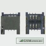 Коннектор SIM HTC Desire C/One V/Rhyme/Radar/Desire Z