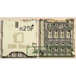 Коннектор SIM HTC One S/8S/Desire 700 Dual/C6502/C6503 (ZL)