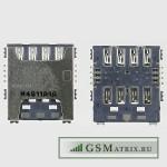 Коннектор SIM Samsung G800H/G800F