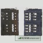 Коннектор SIM Samsung G920FD (S6 Duos)