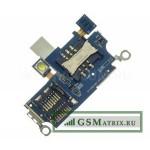 Коннектор SIM+MMC Samsung A800F