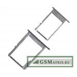 Контейнер SIM+MicroSD Samsung A300F/A500F/A700FD (комплект 2 шт.) Черный