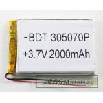 АКБ универсальная 355490p 3,7v Li-Pol 3200 mAh (3.5*54*90 mm)
