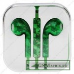 Гарнитура блистер iPhone 5 Зеленая