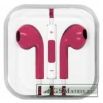 Гарнитура блистер iPhone 5 Розовая