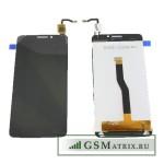 Дисплей Alcatel OT-6043D (Idol X+) в сборе с тачскрином Черный