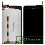 Дисплей Asus ZenFone 6 в сборе с тачскрином Черный