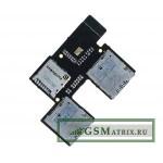Шлейф HTC Desire 700 Dual плата на разъем SIM/MMC