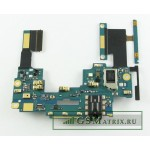 Шлейф HTC One Dual/802w плата на кнопки громкости/разъем гарнитуры